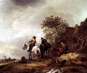 Landscape with Riders