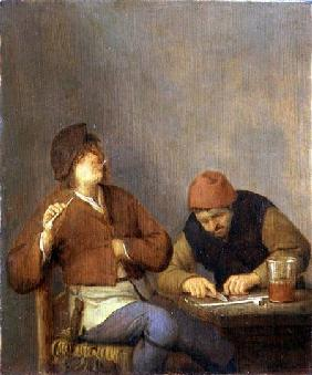 Two Smokers in an Interior