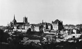 View of Lausanne, c.1856-60 (b/w photo)