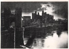 Conway Castle, c.1920-30 (b/w photo)
