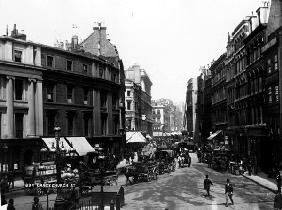 Gracechurch Street, London, c.1890 (b/w photo)