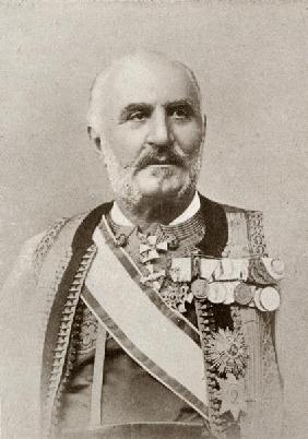 King Nicholas I of Montenegro, from ''The Year 1912'', published London, 1913 (b/w photo)