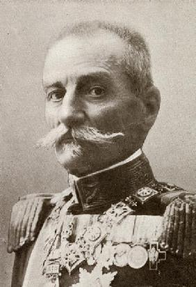 King Peter I of Serbia, from ''The Year 1912'', published London, 1913 (b/w photo)