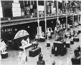 Belgian Fine Arts at the Universal Exhibition, Paris, 1889 (b/w photo)