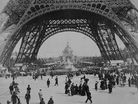 Under the Eiffel Tower, from ''L''Album de l''Exposition 1889'' by Glucq, Paris 1889 (photogravure)