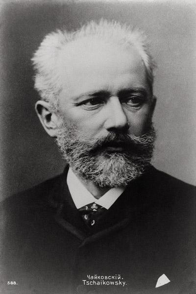 Piotr Ilyich Tchaikovsky (1840-93) (b/w photo)