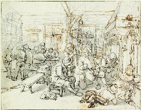Company of Peasants in a Tavern