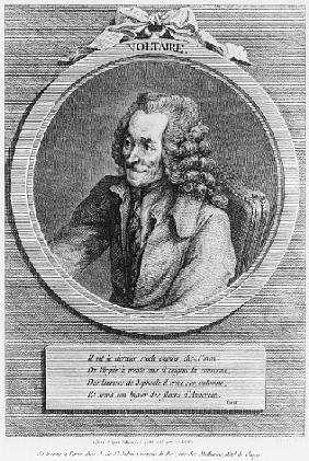 Portrait of Voltaire, from a drawing Denon made on 6th July 1775