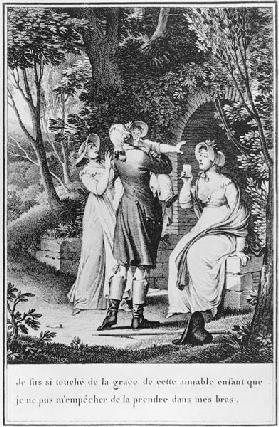 Illustration from ''The Sorrows of Werther'' Johann Wolfgang Goethe (1749-1832) ; engraved by E. Deg