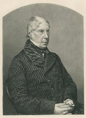 George Hamilton-Gordon, 4th Earl of Aberdeen; engraved by D.J. Pound from a photograph, from ''The D