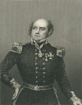 Sir John Franklin ; engraved by D.J. Pound from a photograph, from ''The Drawing-Room of Eminent Per