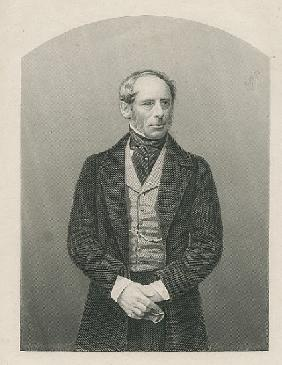 Sir John Somerset Pakington ; engraved by D.J. Pound from a photograph, from ''The Drawing-Room of E