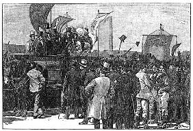 The Chartist Demonstration on Kennington Common, 10th April 1848