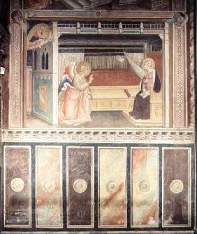 Annunciation, in the Cappella del Sacro Cingolo
