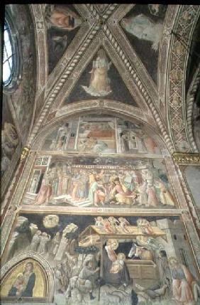 La Cappella della Sacra Cintola (The Chapel of the Sacred Girdle) detail depicting scenes from the L