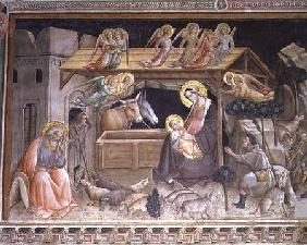 The Nativity, detail from The life of the Virgin and the Sacred Girdle, from the Cappella dell Sacra