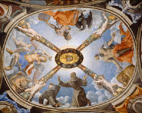 Ceiling painting of the Chapel of Eleonor of Toledo in the Palazzo Vecchio