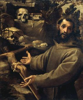 A.Carracci /Francis of Assisi/ Ptg./ C16