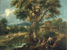 A.Diziani / Mountain Landscape / C18th