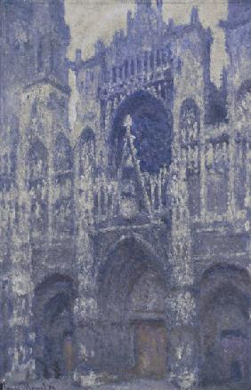 Monet, Claude 1840-1926. ''Rouen Cathedral'' (The Portal, grey Weather, Harmonie grise), 1892. Oil o