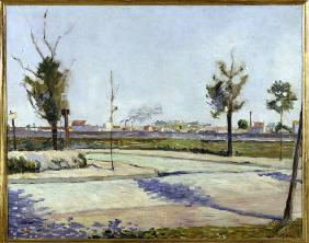 P.Signac, Road to Gennevilliers / 1883