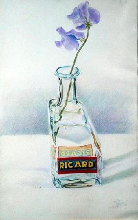 Ricard Bottle, 1981 (coloured pencil on paper)