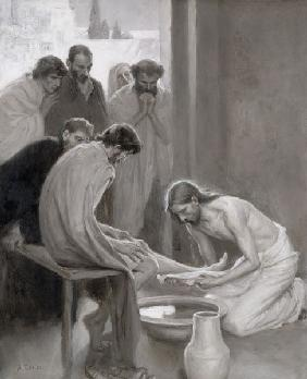 Jesus Washing the Feet of his Disciples