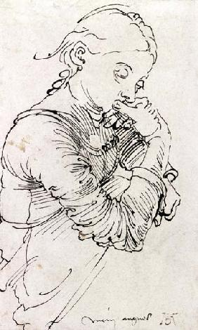 """My Agnes"", Durer's wife depicted as a girl"