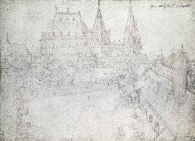 The Minster at Aachen, 1520 (silverpoint on paper)