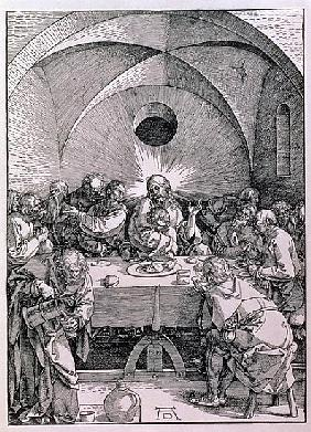 The Last Supper from the ''Great Passion'' series, pub. 1511