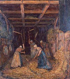 Drescherinnen in the threshing floor