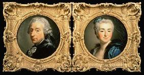 Portraits of Francois Boucher (1703-70) and his Wife Marie-Jeanne Buseau