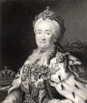 Catherine II (1729-96) of Russia, from 'Gallery of Portraits', published in 1833 (engraving)