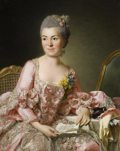 Portrait of Marie-Suzanne Giroust, Madame Roslin (1734-1772)