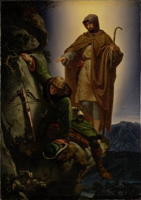 A Guardian Angel Rescuing Emperor Maximilian from the Martinswand