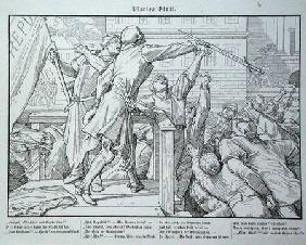 Death on the Tribune, from 'Another Dance of Death' published by Georg Wigand in Leipzig