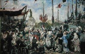 Study for 'Le 14 Juillet 1880'