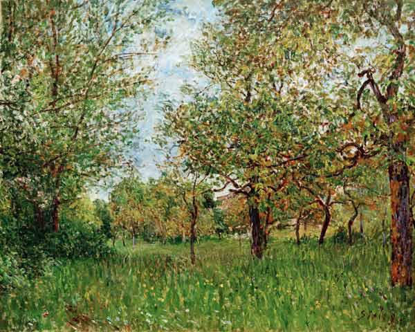 A.Sisley, Kleine Wiese in By