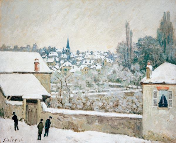 Sisley / Winter in Louveciennes / 1876