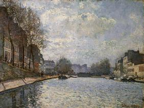 View of the Canal Saint-Martin, Paris