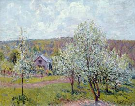 Spring in the Environs of Paris, Apple Blossom