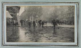 Wet Day on a Boulevard, Paris