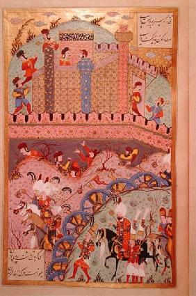 The conquest of Belgrade by Sultan Suleyman I (1495-1566), from the 'Suleymanname' (Mss Hazine. 1517