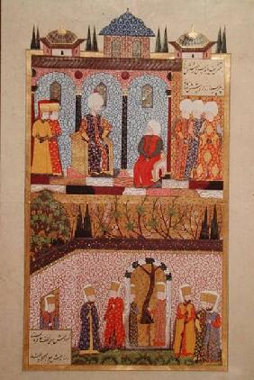 The presentation of gifts to Suleyman I (1495-1566) on the occasion of the circumcision of his sons