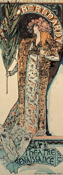 Gismonda, the first poster of Mucha for Sarah Bernhard and the Théatre de renaissance