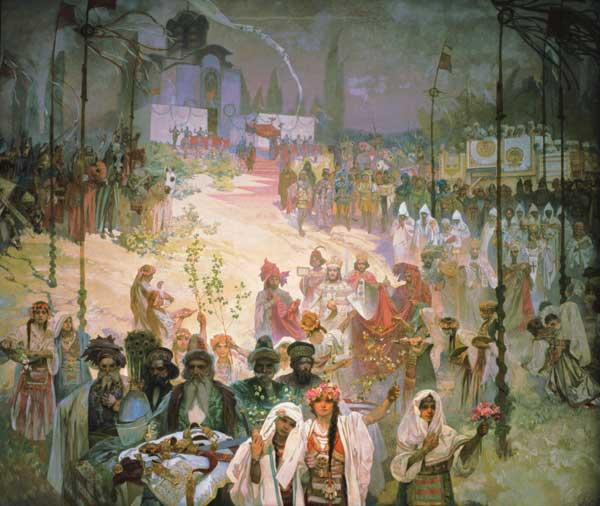The Coronation of Tsar Stepan Dusan (1308-55) from the ''Slav Epic''