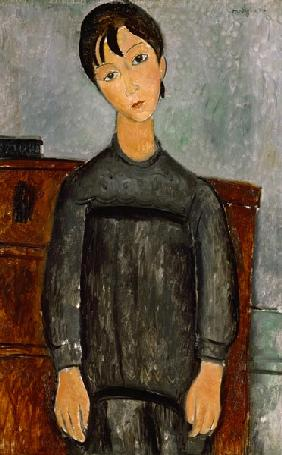 Girl with a black apron