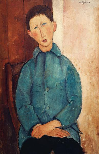 Modigliani / Boy in Blue Jacket / 1918