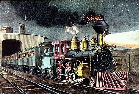 The Night Express: The Start, published Nathaniel Currier (1813-88) and James Merritt Ives (1824-95)