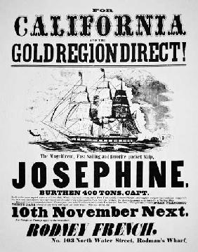 Clipper Ship Poster, 1849 ...